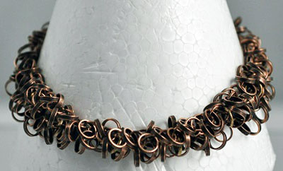 Brass Dangling Circles Bracelet