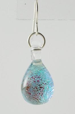 Glass Earring - Sparkle Blue Design
