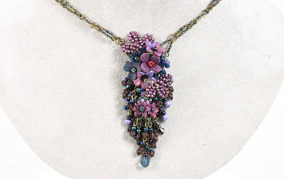 Twilight Hand-beaded Necklace