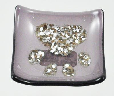 Glass Pawprint Mini Tray