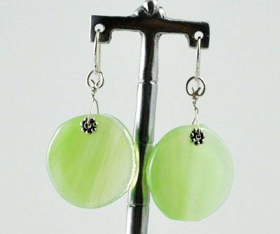 Spring Green LollyDrop Earrings