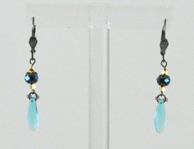 Dagger Drop Glass Earring