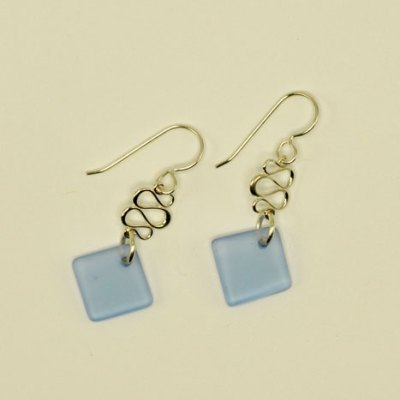 Seaglass Ribbon Earrings - Assorted