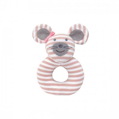 Ballerina Mouse Teething Rattle - Farm Buddies