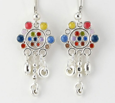 Tiny Circles Chandelier Earrings