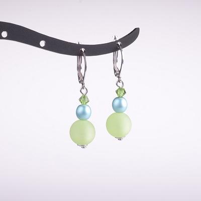 Triple Bead Drop Earring- Assorted