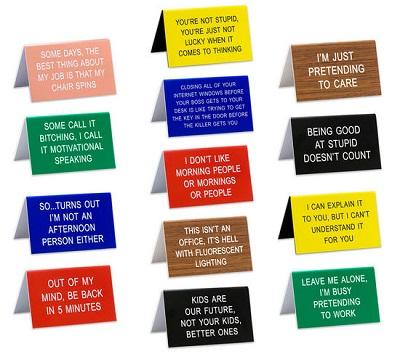 Office Talk Desk Signs