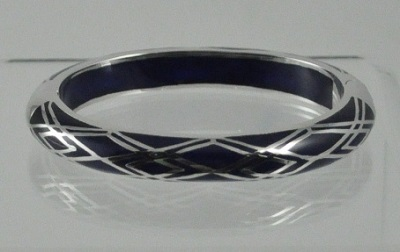Waves of Electricity Cuff Bracelet - Black