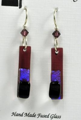 Earrings - Fused Glass LOL