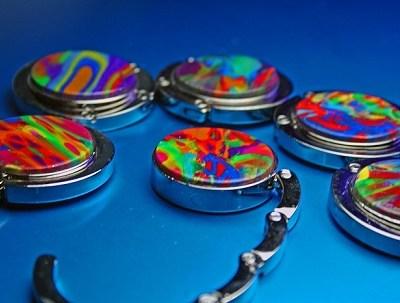Purse Hook - Colorful Swirl