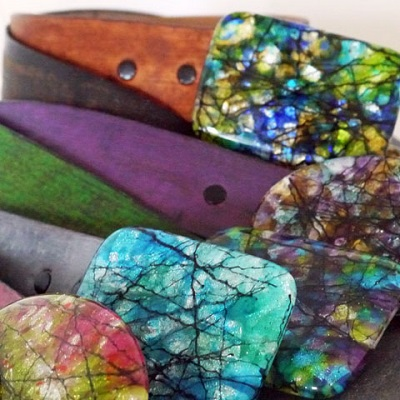 Painted Leather Belts