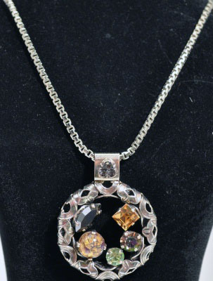 Circle Pendant with Jewels