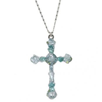 Aquamarine Cross