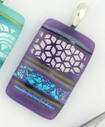 Purple Mosaic Glass Pendant
