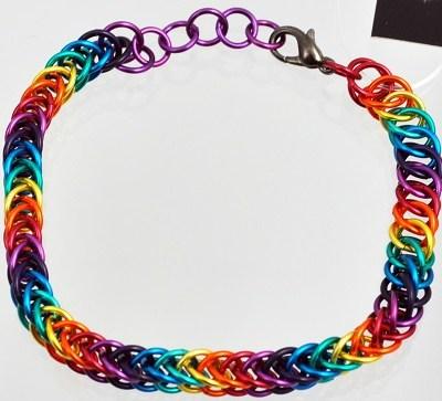 Chainmaille Bracelet - Valhalla Rainbow