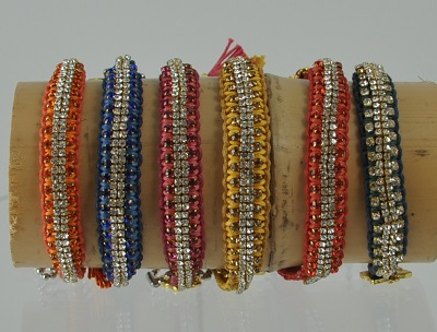Vanessa Rainbow Woven Bracelets by Rose Gonzales