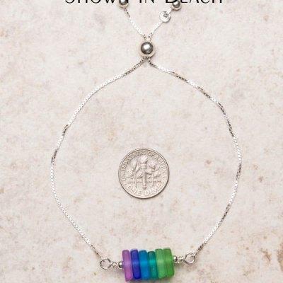 Seaglass Trapeze Bracelet - Assorted Colors