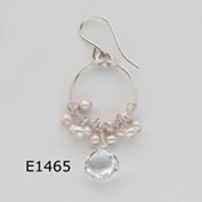 White Pearl White Topaz Earrings