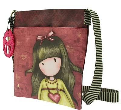 Flat Cross Body Bag by Gorjuss- Heartfelt