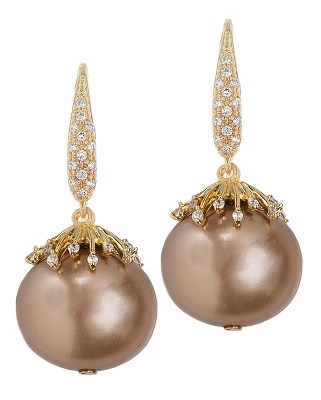 Shell pearl drop earrings