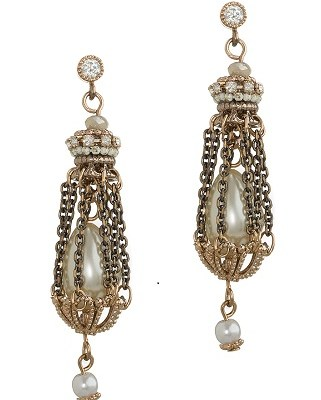 Victorian Pearl on Pearl Drop Earring