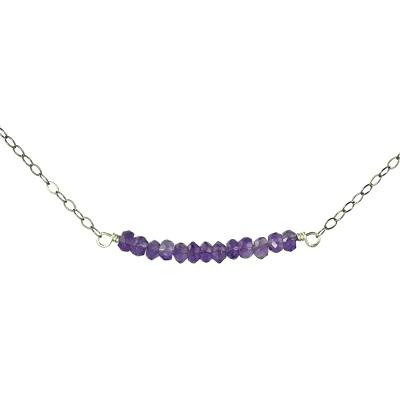 Amythyst Bar Necklace