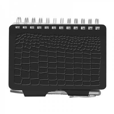 Password Book - Croc Black