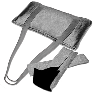 Gray Velour Mah Jongg Over the Should Bag