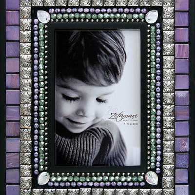 Lavender Mosaic Picture Frame