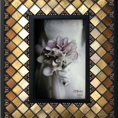Toffee Diamond Mosaic Picture Frame