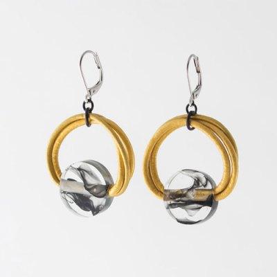 Neo Encre & Dore Golden Earring