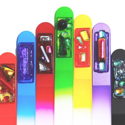 5 1/2 Inch Nail Files - Dichroic Glass