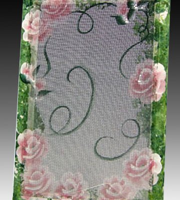 Original Earring Holder - Flower Border