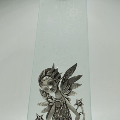 Angel Pewter Candlestick