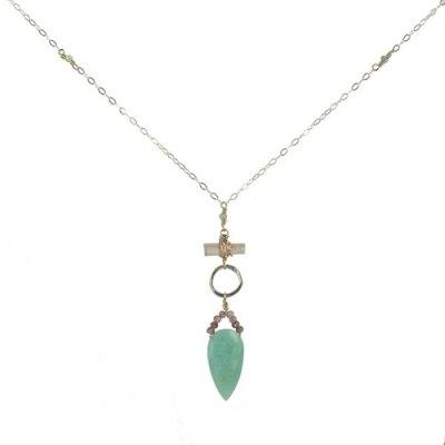 Amazonite Arrowhead Pendant