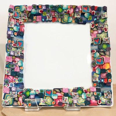 "Polymer 12"" Square Platter - Multi"