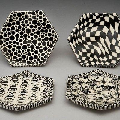 """5"""" Hexagon Dessert Plates"""