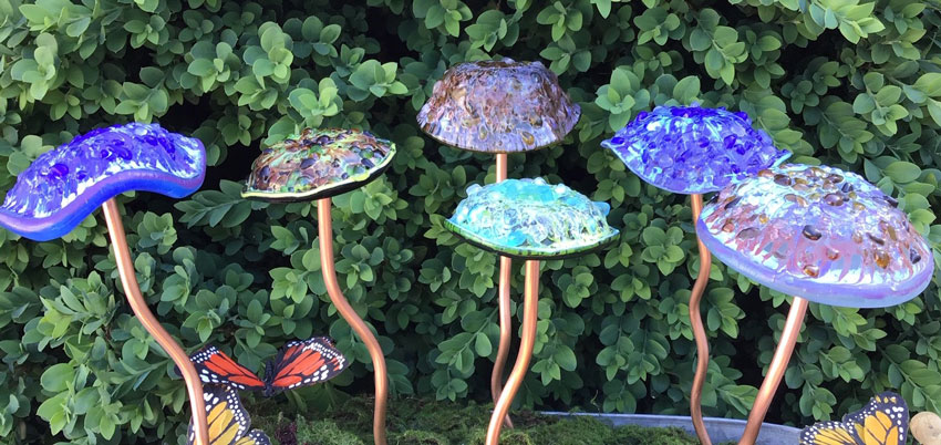 Glass Garden Mushrooms The Terry Janis Collection