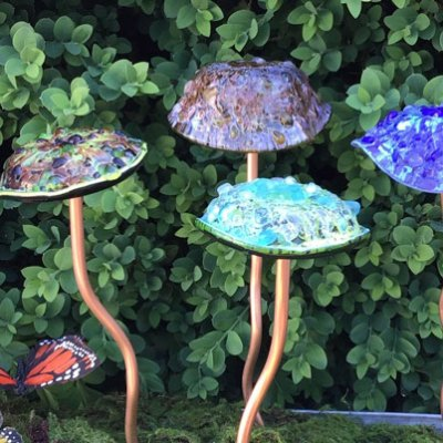 Glass Garden Mushrooms