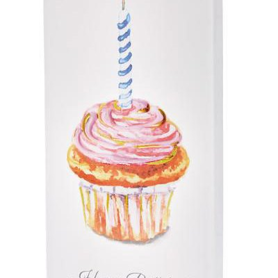 Happy Birthday Cupcake Candle