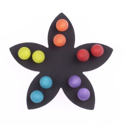 8 MM Large Dot Earrings - Multi