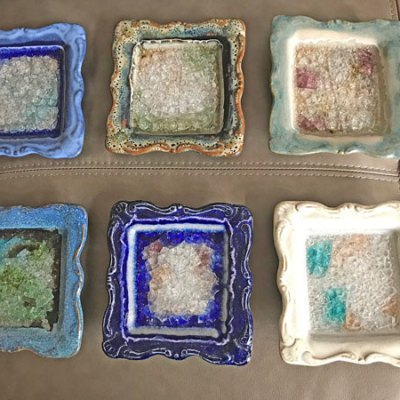 Artisan Square Pottery Dish
