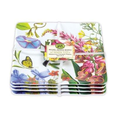 Summer Days Melamine Canape Plates