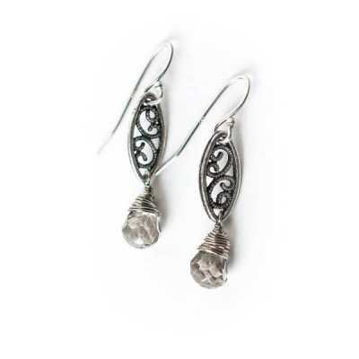 Windsor Castle Filigree Dangle Earrings