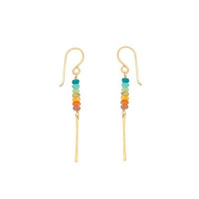 Rondelle Gems Earring