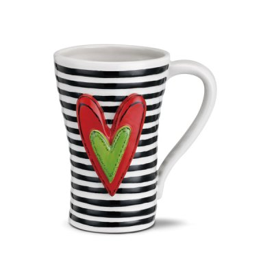 Black Stripes Ceramic Mug