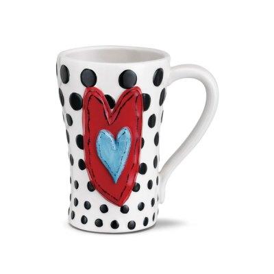 Black Dots Ceramic Mug