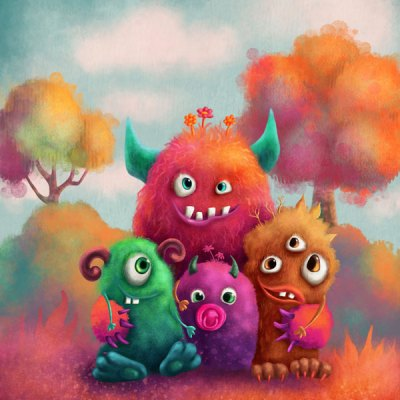 Zen Peapod Puzzle - Friendly Monsters