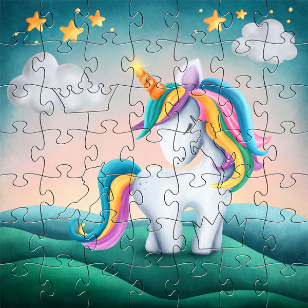 Zen Peapod Puzzle - My Little Unicorn