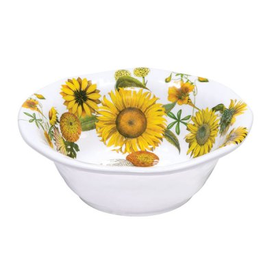 Sunflower Melamine Serveware Medium Bowl